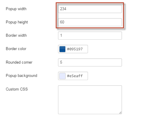 Setting Width and Height for your Popup Window