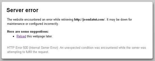 how to fix http 500 internal server error