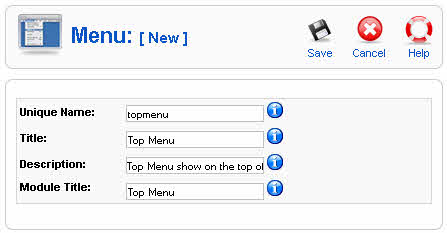Create new Menu