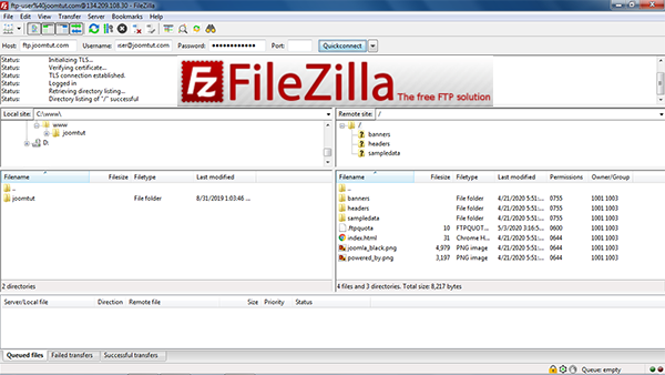 How to make a FTP connection to your server using FileZilla Client