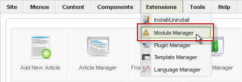 Select Module Manager