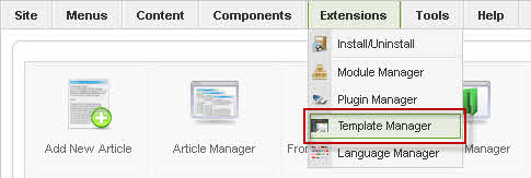 Select Template Manager