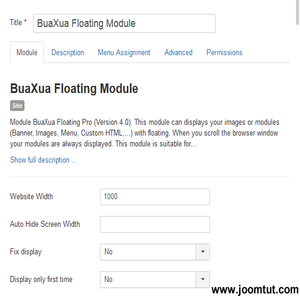 Module BuaXua Floating Pro Settings