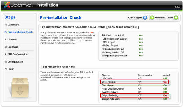 PHP Recommended settings