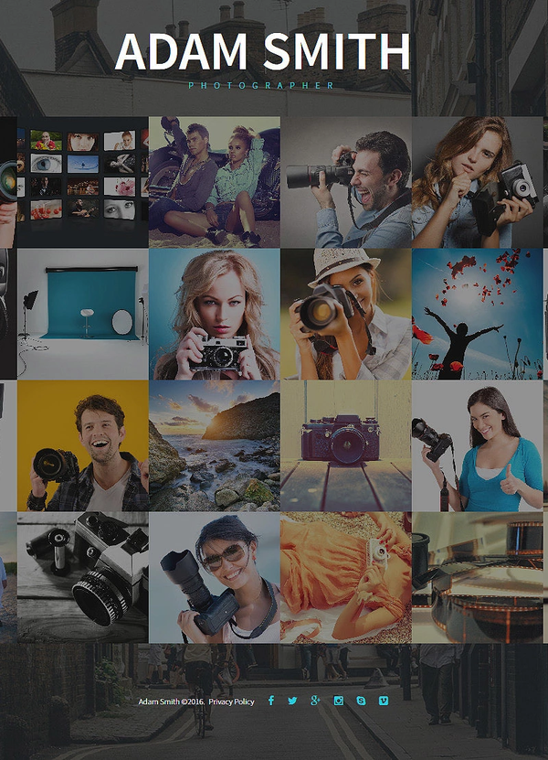 Adam Smith – Photographer Portfolio template