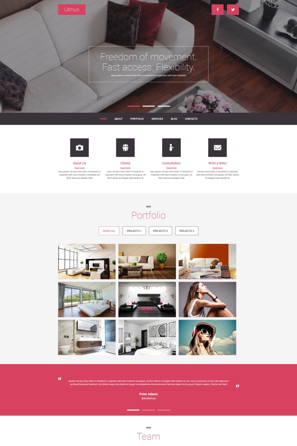 Interior and Furniture template