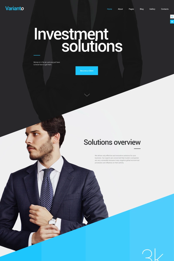 Varianto – Investment Solutions template